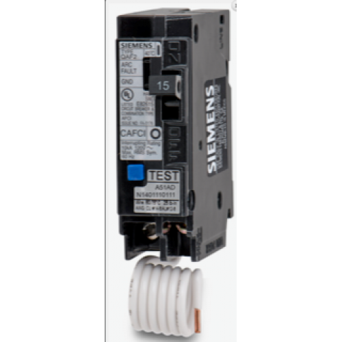 Siemens QA115AFC 1 Pole Combination AFCI Breaker