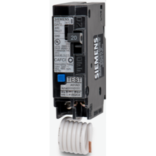 Siemens QA120AFC 1 Pole Combination AFCI Breaker