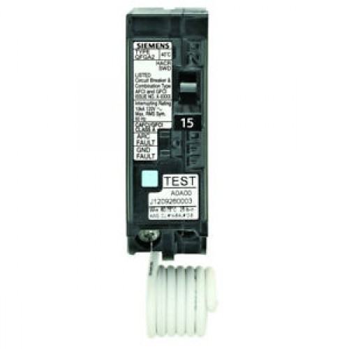 Siemens Q115DF 1 Pole Dual Function Breaker